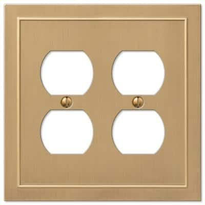 Bethany 2 Gang Duplex Metal Wall Plate - Brushed Bronze