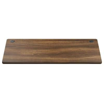 48 in. x 24 in. Frame Walnut Universal Rectangle Wood Coffee Table Tabletop for Standard and Standing Desk
