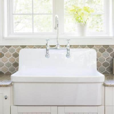 Crushed Sunset Cream 10.75 in. x 11 in. Arabesque Glossy Ceramic and Glass Mosaic Tile (0.821 sq. ft./Each)