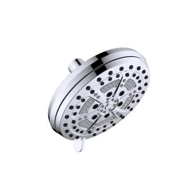 Mills Modern 6-Spray Patterns 6.7 in. Wall Mounted Fixed Shower Head in Polished Chrome