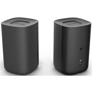 Wireless Speakers Surround Sound System for Roku TV with 2 Speakers in Black