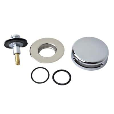 """QuickTrim Lift and Turn Bathtub Stopper with Innovator Overflow and Two """"O"""" Rings Trim Kit in Chrome Plated"""