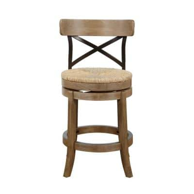 Myrtle 24 in. Counter Stool in Gray