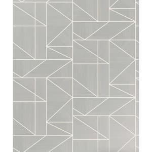Ina Silver Geometric Silver Wallpaper Sample