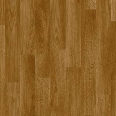 FlexStep Value Plus Gunstock Wood Residential Vinyl Sheet Flooring 12 ft. Wide x Cut to Length