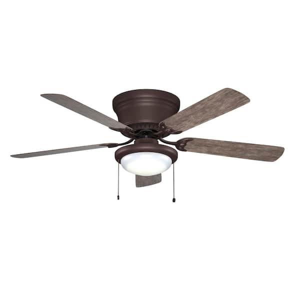 Hugger 52 in LED Espresso Bronze Ceiling Fan 5 Reversible Blades w//Dome Light