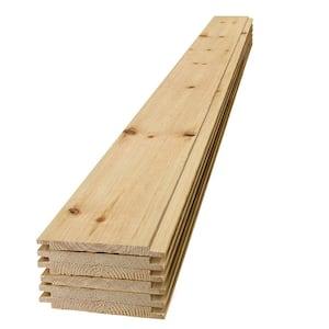 1 in. x 8 in. x 4 ft. Barn Wood Shiplap Pine Board (6-Pack)