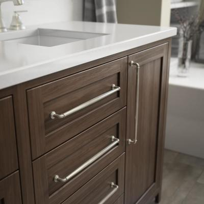Classic Elegance 12 in. (305mm) Center-to-Center Satin Nickel Appliance Drawer Pull