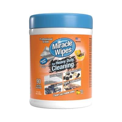 Citrus Scent Heavy-Duty Cleaning Wipes (90-Count)