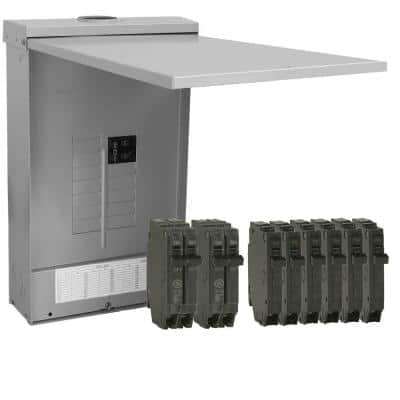 PowerMark Plus 125 Amp 12-Space 24-Circuit Outdoor Main Breaker Value Kit