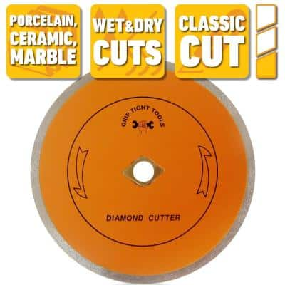 7 in. Classic Continuous Rim Tile Cutting Diamond Blade for Cutting Porcelain, Ceramic and Marble