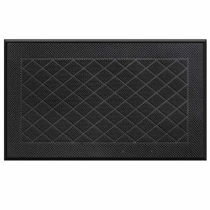 Stud Pattern Black 18 in. x 30 in. Pin Door Mat