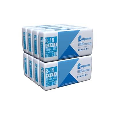 R-19 EcoBatt Kraft Faced Fiberglass Insulation Batt 23 in. x 94 in. (8-Bags)
