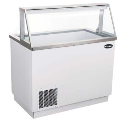 46 cu. Ft. Commercial Chest Freezer Ice Cream Dipping Cabinet Display Case in White