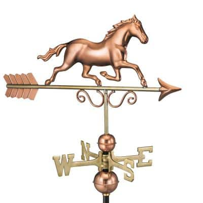 Galloping Horse Weathervane - Pure Copper