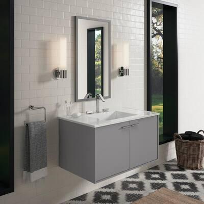 Jute 36 in. W Wall-Hung Vanity in Mohair Grey