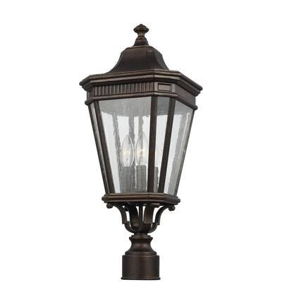 Cotswold Lane 3-Light Outdoor Grecian Bronze Post Light