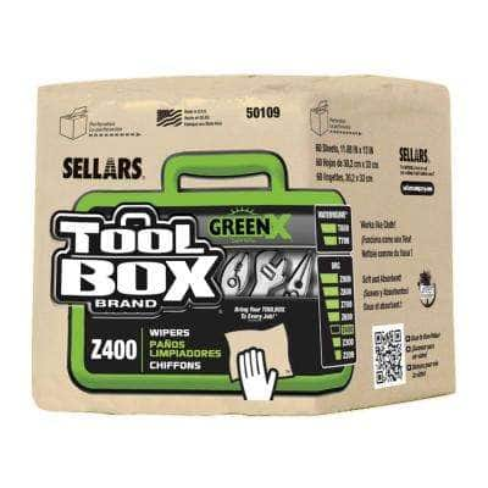 Z400 GreenX Quarterfold Wipers (60-Count; 12 Bundles Per Case; 720 Sheets Per Case)