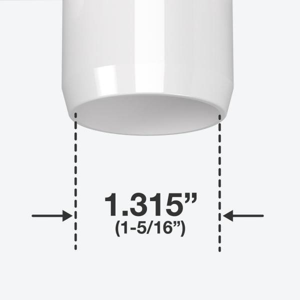 Formufit 1 In Furniture Grade Pvc 3 Way Elbow In White 4 Pack F0013we Wh 4 The Home Depot