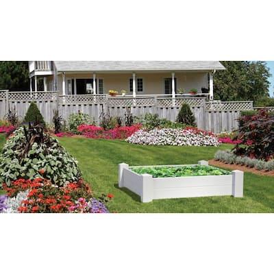 4 ft. x 4 ft. Vinyl Raised Garden Bed
