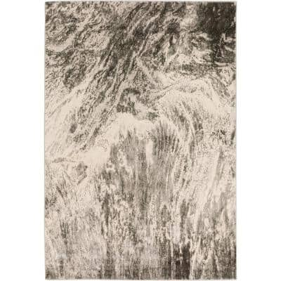Gentry 17 Grey 9 Ft. 4 In. x 13 Ft. 2 In. Abstract Watercolor Area Rug