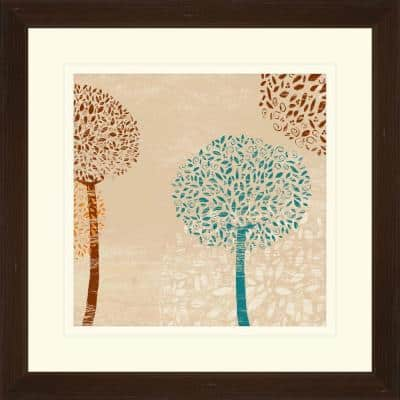 """17.75 in. x 17.75 in. """"Puffball Floral A"""" Framed Wall Art"""