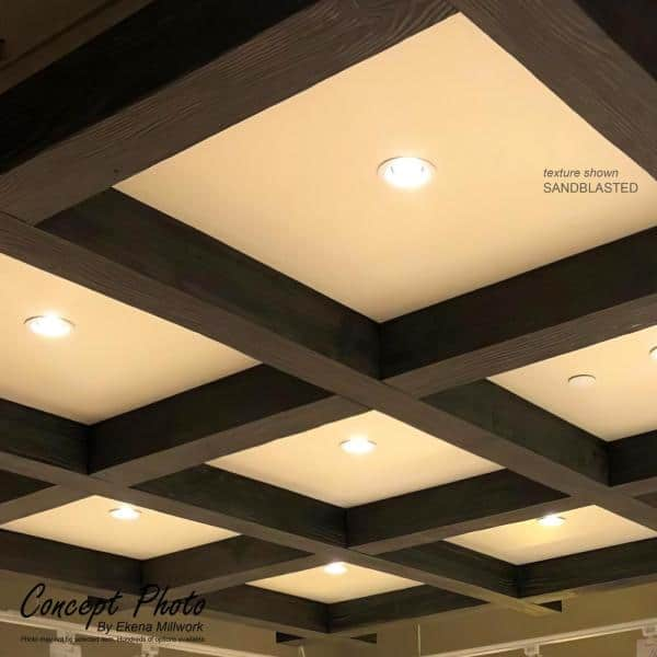 Ekena Millwork 8 In X 12 In X 8 Ft 3 Sided U Beam Sandblasted Natural Golden Oak Faux Wood Ceiling Beam Bmsd3c0120x080x096ng The Home Depot