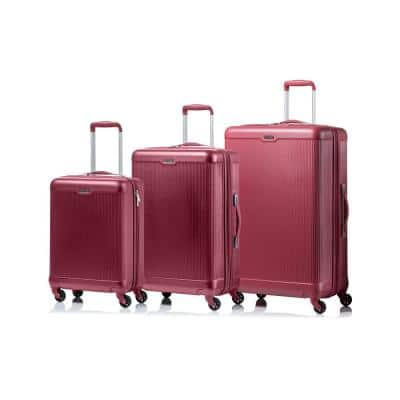 CHAMPS Aspire 28 in.,24 in., 20 in. Pink Hardside Luggage Set with Spinner Wheels (3-Piece)