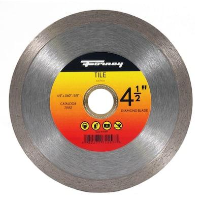 4-1/2 in. Continuous Rim Diamond Tile-Cutting Blade
