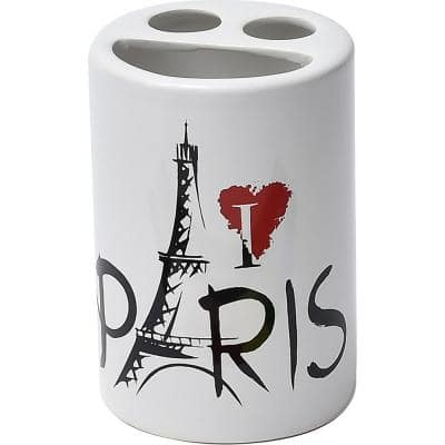 Parisienne  Dolomite Countertop Toothbrush and Toothpaste Holder