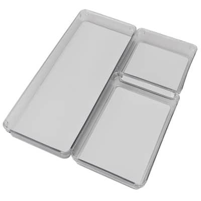 1.75 in H x 6.25 in W x 15.75 in D Plastic Drawer Organizer