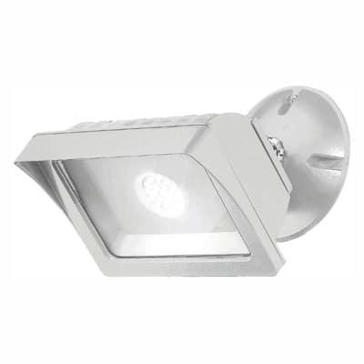White Outdoor LED Adjustable Single-Head Flood Light