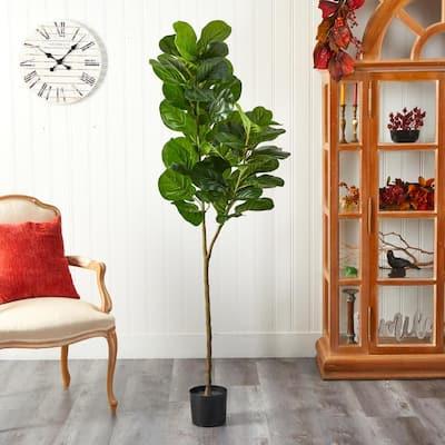 4.5 ft. Artificial Fiddle Leaf Fig Tree