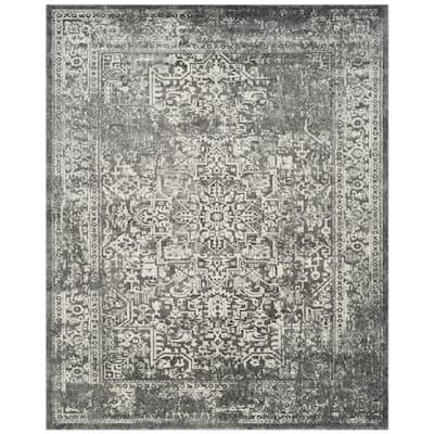 Evoke Grey/Ivory 10 ft. x 14 ft. Area Rug