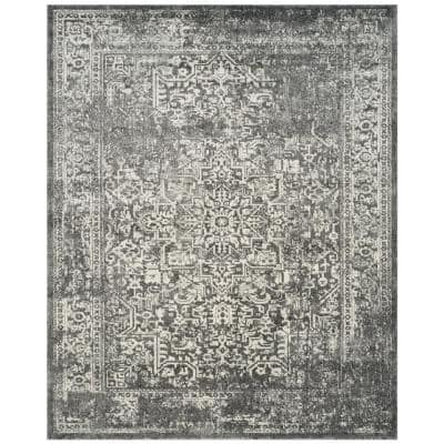 Evoke Grey/Ivory 8 ft. x 10 ft. Area Rug