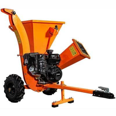 3 in. 7 HP Gas Powered Kohler Engine Direct Drive Certified Commercial Chipper Shredder with Trailer Tow Hitch