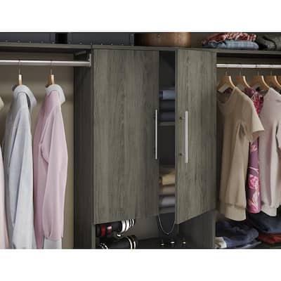 Style+ 25 in. W Modern Coastal Teak Closet Door Kit