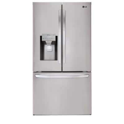 27.9 cu. ft. French Door Smart Refrigerator with Wi-Fi Enabled in Stainless Steel