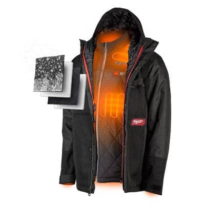 Men's M12 12-Volt Lithium-Ion Cordless Gridiron 3-In-1 Heated Jacket Kit W/ 2.0Ah Battery and Charger