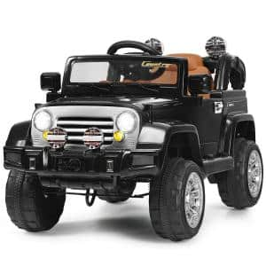 12-Volt MP3 Kids Ride On Truck Car RC Remote Control with LED Lights Music