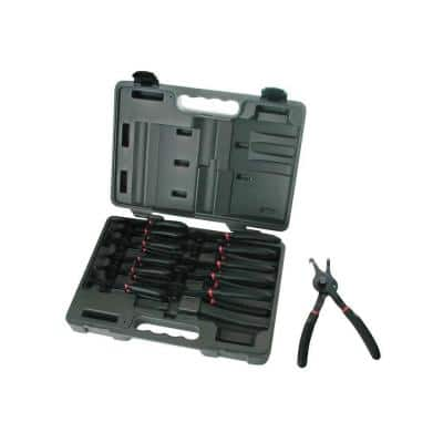 Fixed Tip Combination Snap Ring Pliers Set (12-Piece)