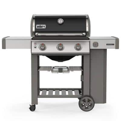 Genesis II E-310 3 Burner Propane Gas Grill in Black with Built-In Thermometer
