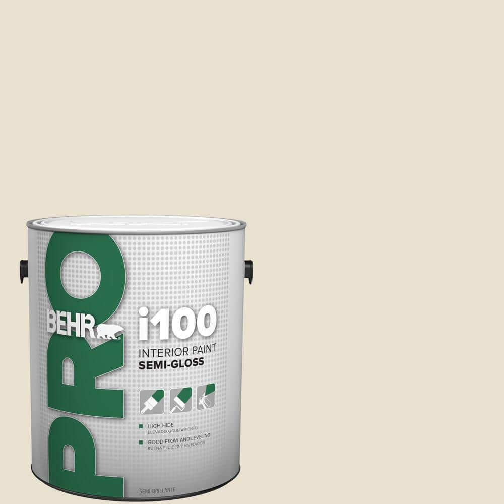 Behr Pro 1 Gal Bxc 11 Ibis Semi Gloss Interior Paint Pr17001 The Home Depot