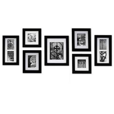 7-Opening 4 in. x 6 in. Matted Picture Frame