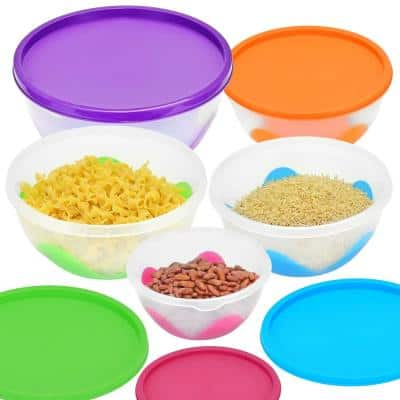 5-Piece Multi-Purpose Nested and Stackable Bowl/Food Storage Containers