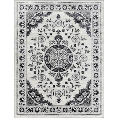 Erwin Black 6 ft. 7 in. x 9 ft. Area Rug