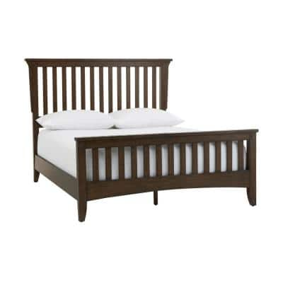 Home Decorators Abrams Walnut Finish King Mission Style Bed