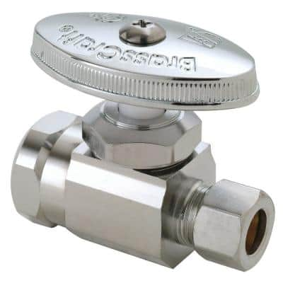 1/2 in. FIP Inlet x 3/8 in. Compression Outlet Multi-Turn Straight Valve