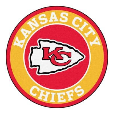 NFL Kansas City Chiefs Gold 2 ft. x 2 ft. Round Area Rug