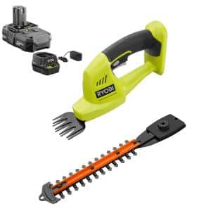 ONE+ 18V Cordless Battery Grass Shear and Shrubber Trimmer with 1.3 Ah Battery and Charger
